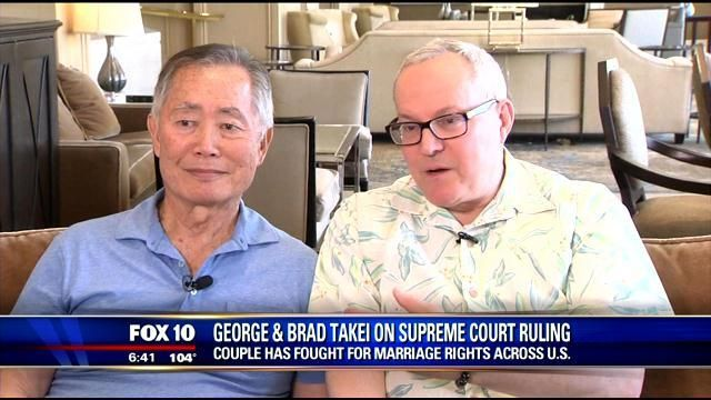 George and Brad Takei speak out about gay rights & marriage - FOX 10 News | fox10phoenix.com