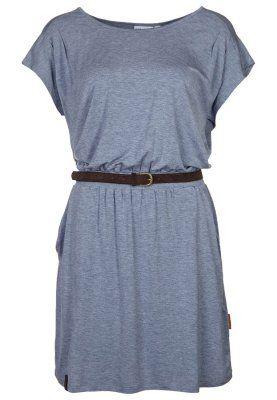 Naketano LEONIDAS - Jerseykleid - blue/grey melange ...