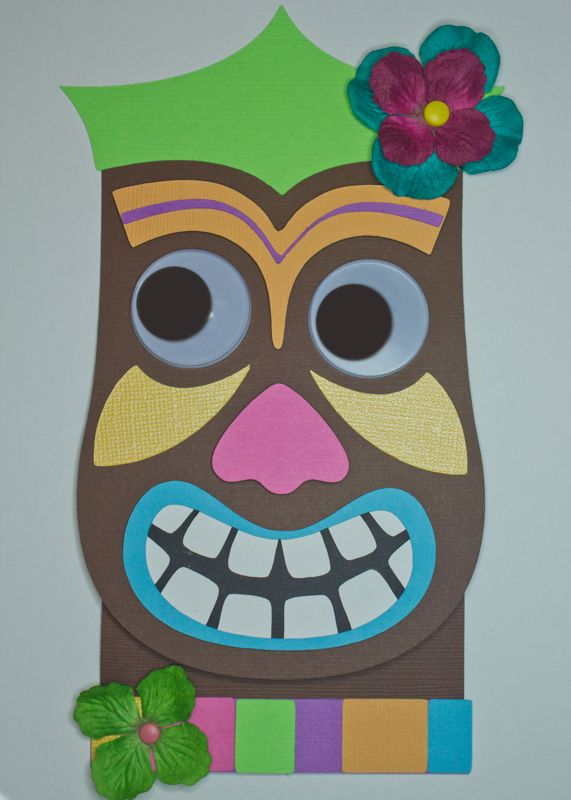 tiki mask out of a paper bag cut out eyes so kids can use them