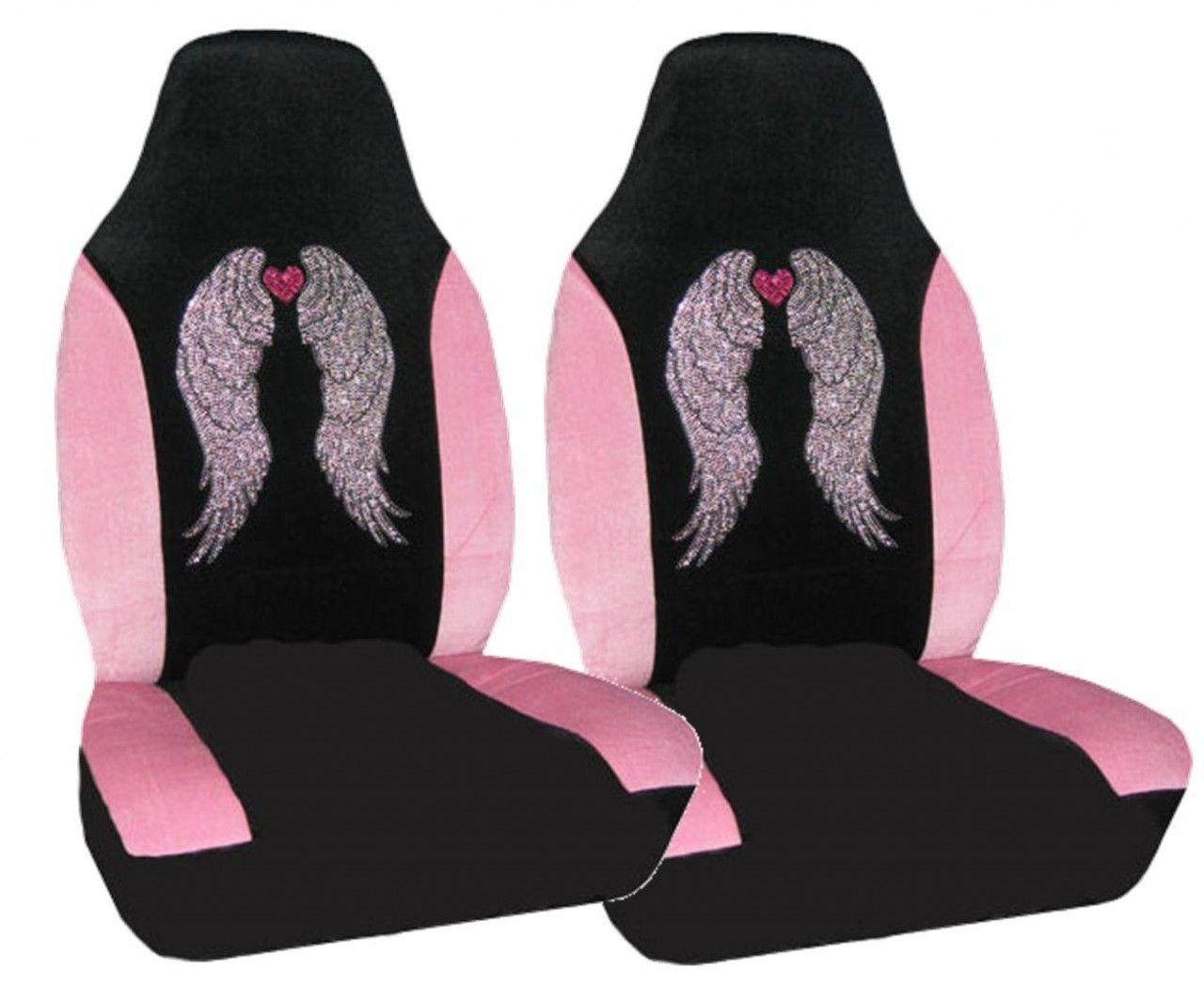 Girly Angel Wing Rhinestone Car Seat Cover