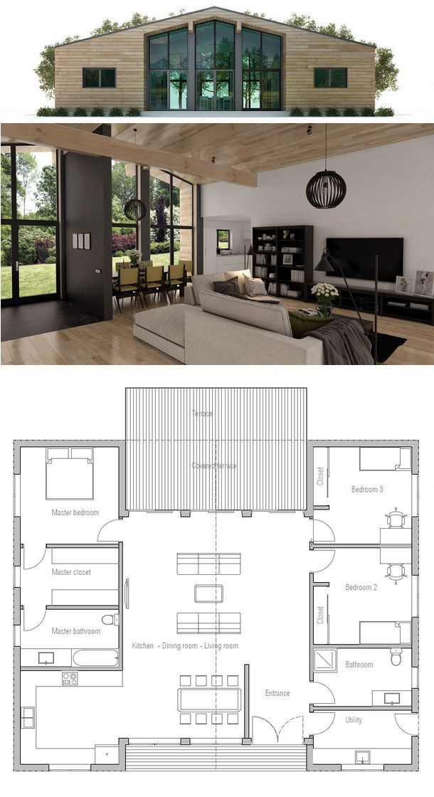 House Plan Ch325 Building A Container Home Container House Plans Small House Plan