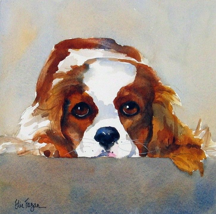 Watercolor Dog Portrait By Edie Fagan Adored Dogs Watercolor