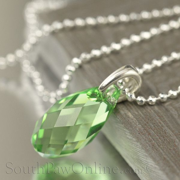 59bff0a732e0 Peridot Swarovski Crystal Necklace
