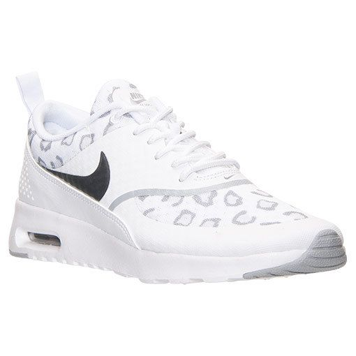 new products c55d8 8a6fe NEW!! White Cheetah Print Women's Nike Air Max Thea | Shoes ...