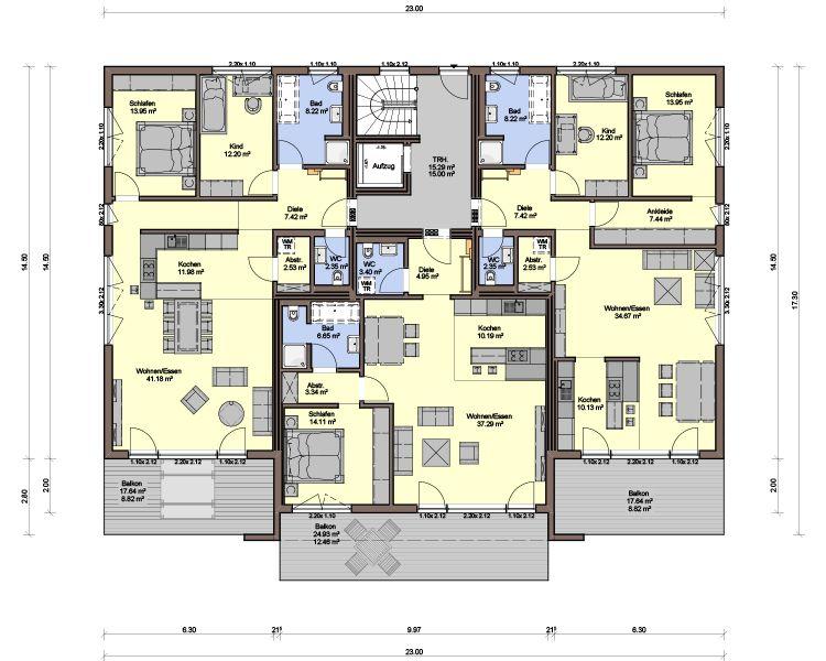 Mehrfamilienhaus Cervino VI Fertighaus (mit Bildern