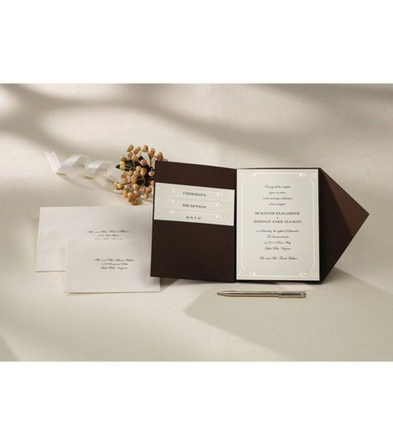 Wedding Invitation Diy Kits: Wilton Pocket Invitation Kit