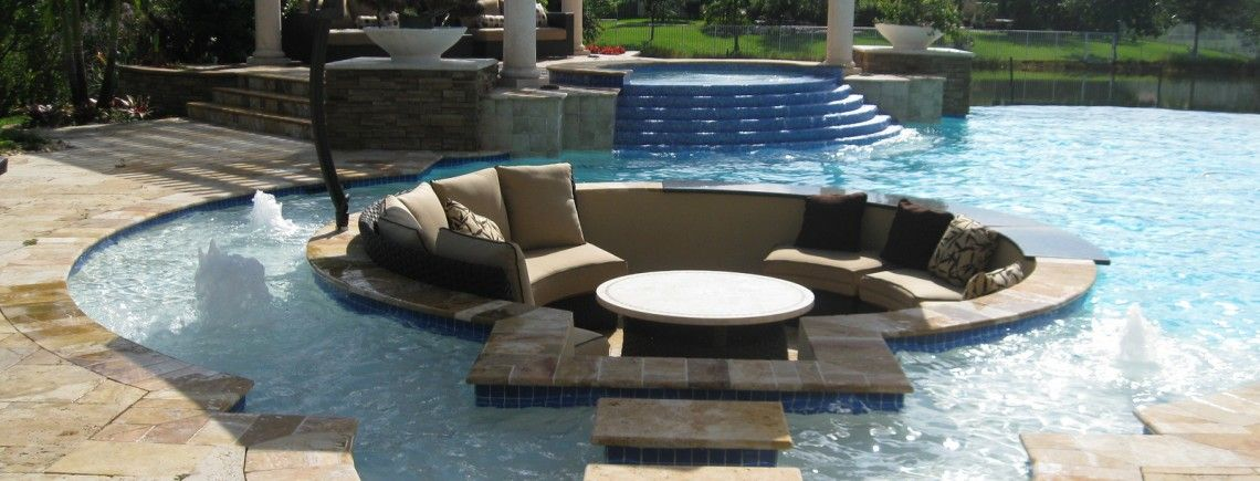 Seating Area Inside Pool