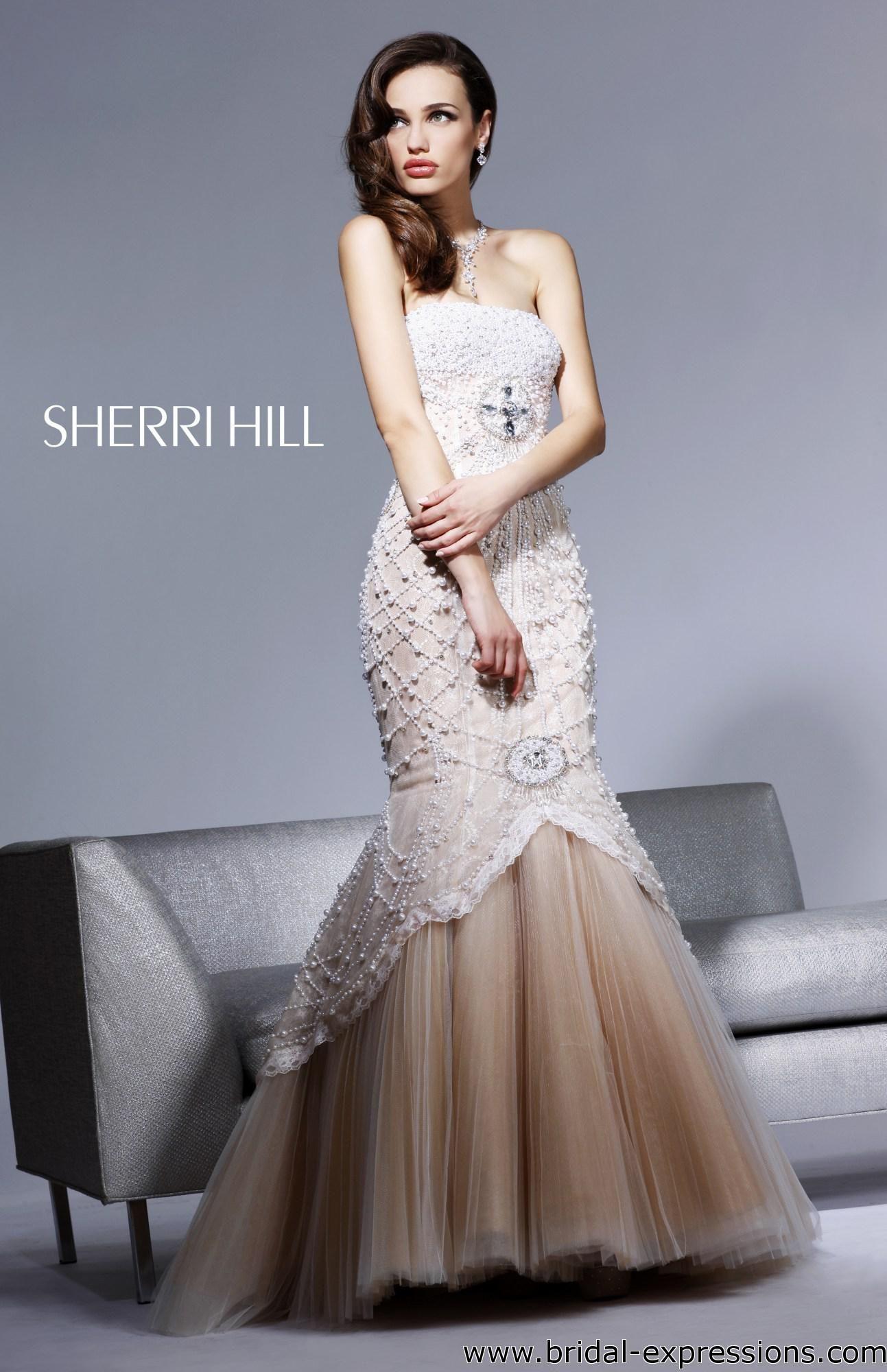 Caroline Forbes Ball Gown | Sherri Hill 2789 Beaded Mermaid Prom ...