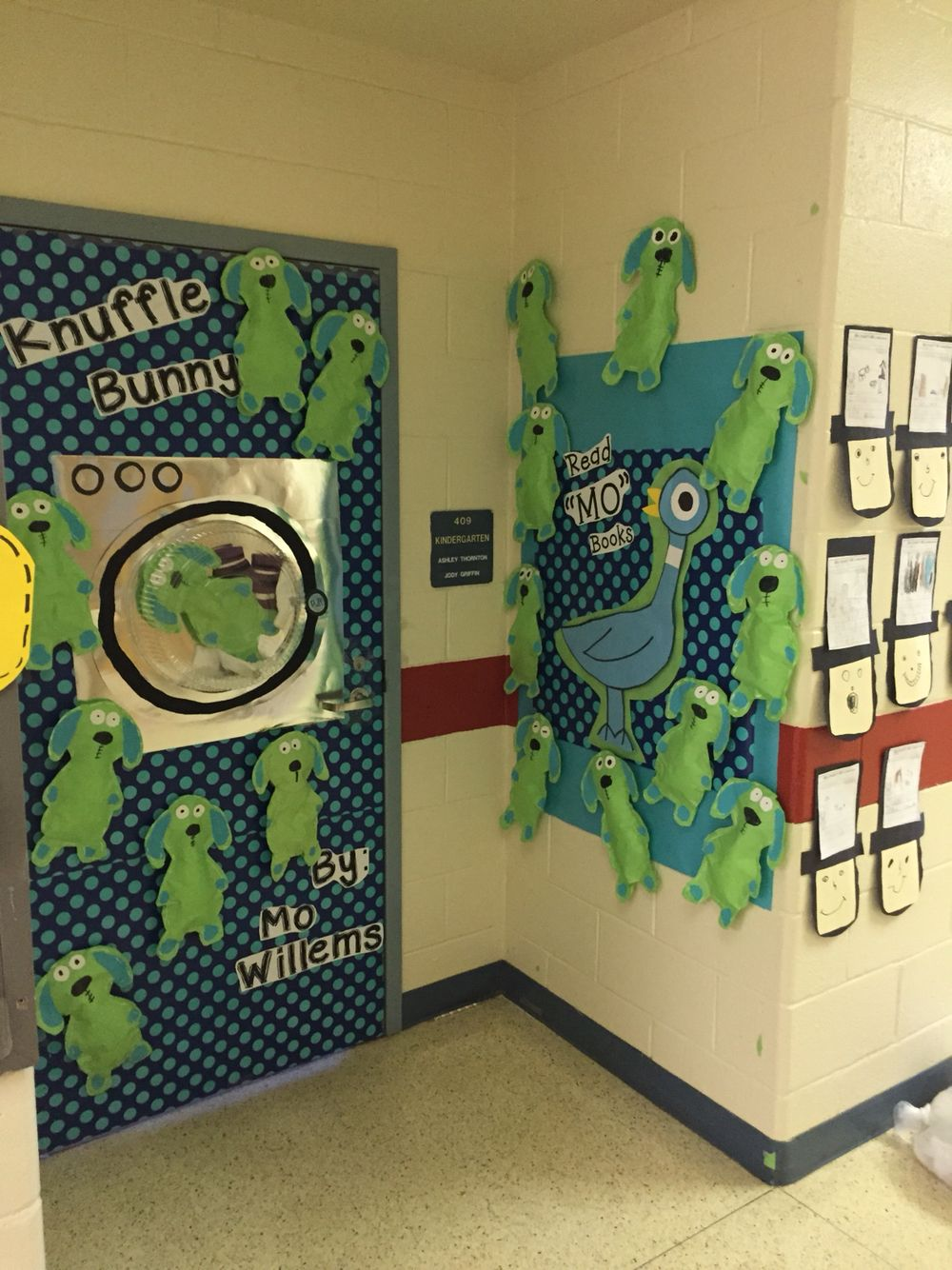 Read Across America door decoration. Knuffle Bunny by Mo ...