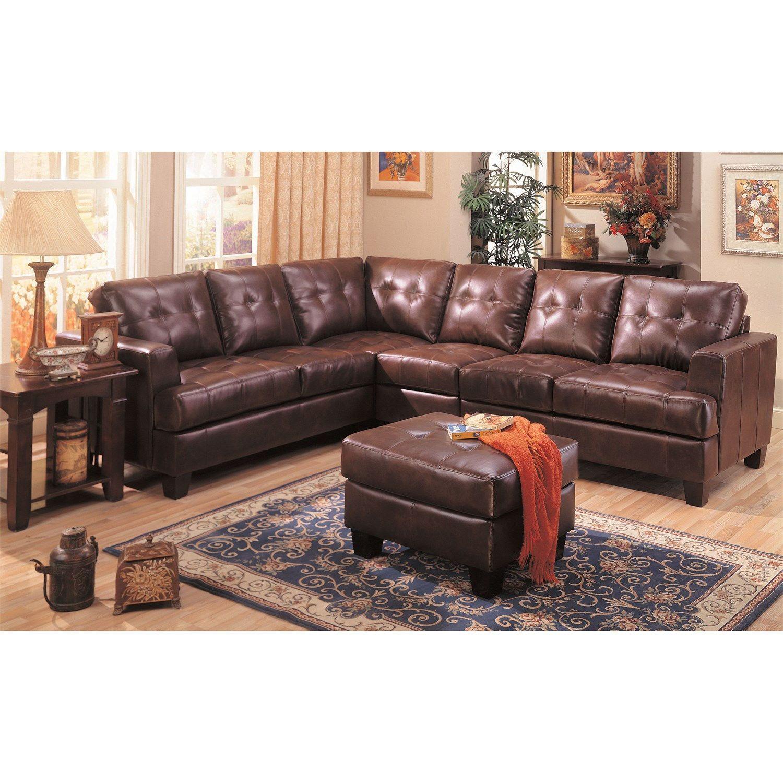 Coaster Furniture 500911 500911AC Samuel 4 Piece Chocolate Sectional Sofa