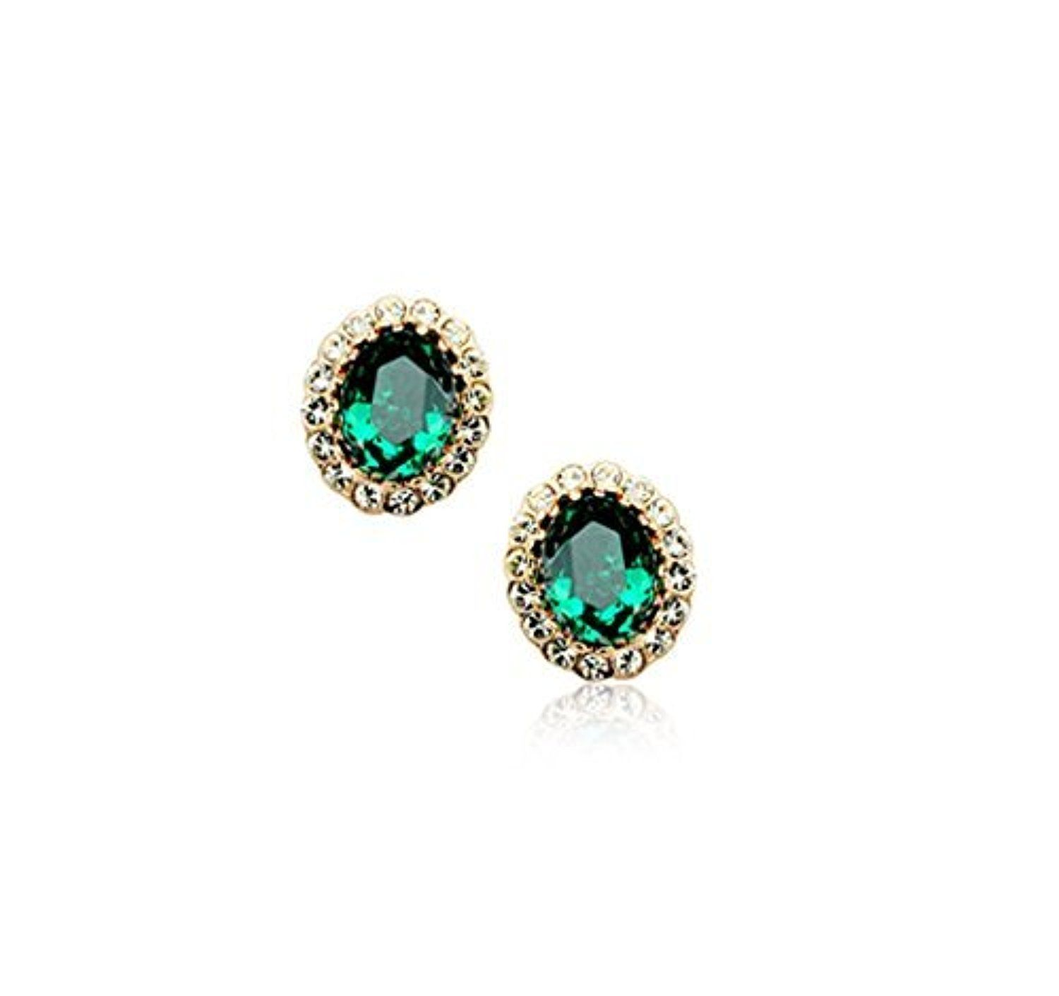 earrings and gold zambian stud in green emerald emeralds diamond carat white envy natural platinum