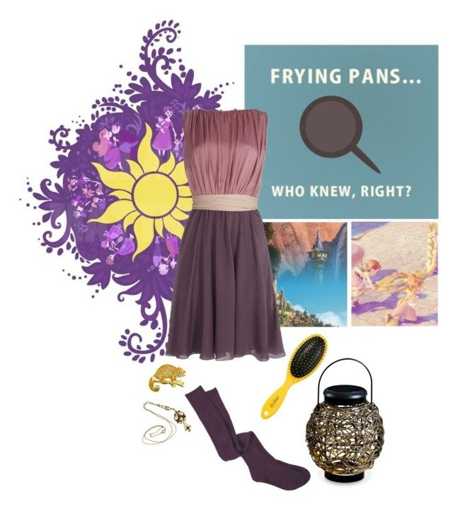 """""""Symbols of Rapunzel"""" by viennemoore ❤ liked on Polyvore featuring ESCADA, Drybar and Thos. Baker"""
