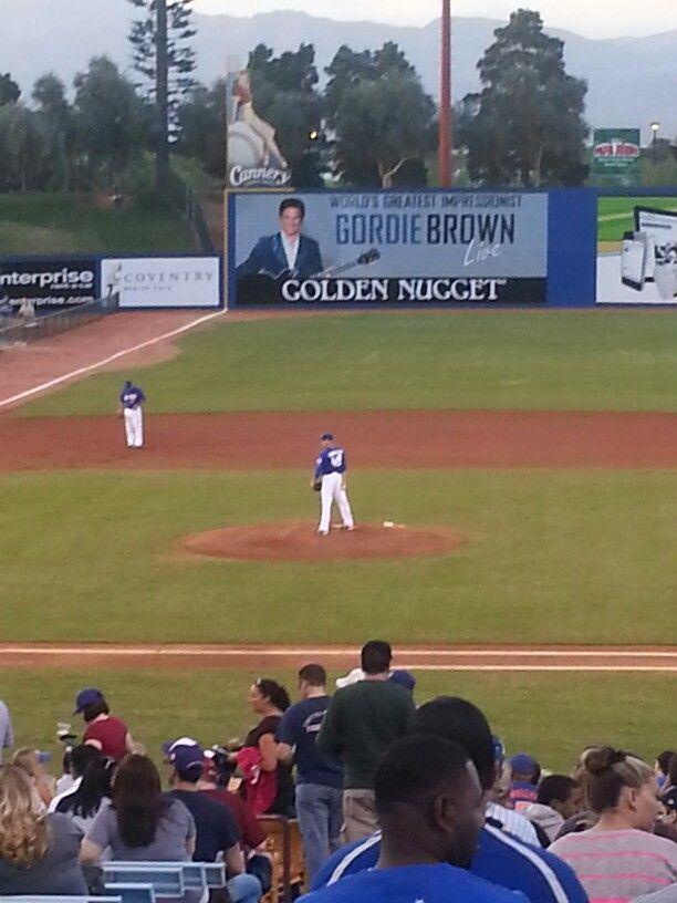 Cashman Field Zach Wheeler On The Bump Minor League Baseball Baseball Field Mets