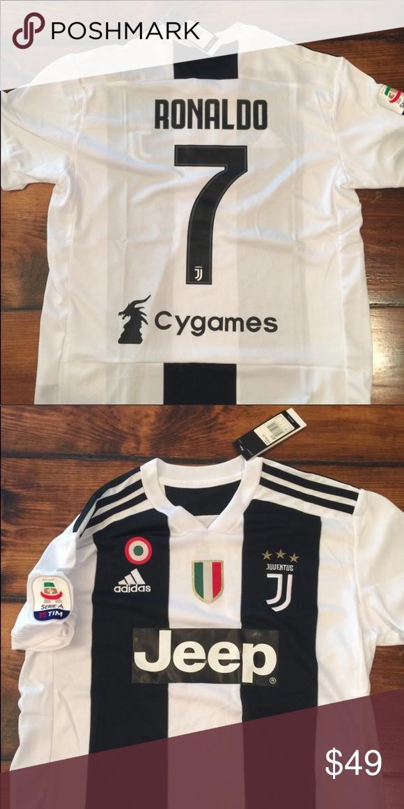 47820ea1a10 Ronaldo CR7  7 White Juventus Home Jersey Cristiano Ronaldo champions  league home jersey. adidas Shirts