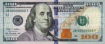 100 Us Dollars Bill Font