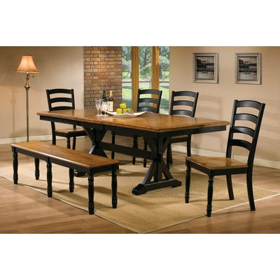 Dark Base Light Top Dining Table Rectangular Table Dining