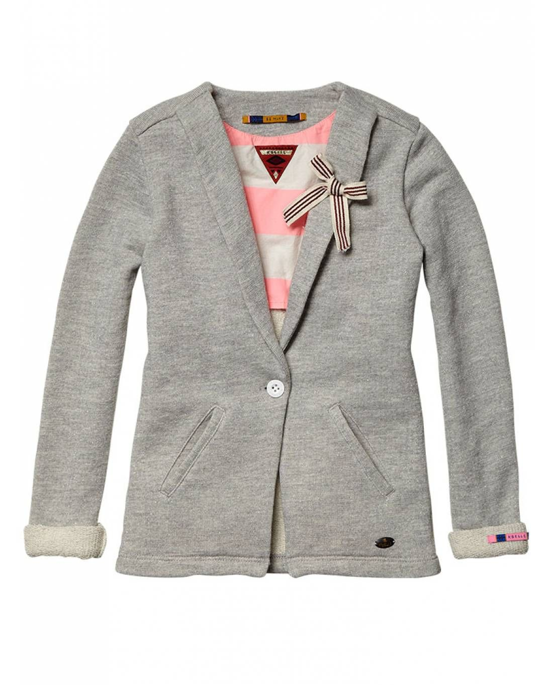 4f505ea04ade1 Lurex sweat blazer with bow pin - Sweaters - Official Scotch   Soda Online  Fashion   Apparel Shops