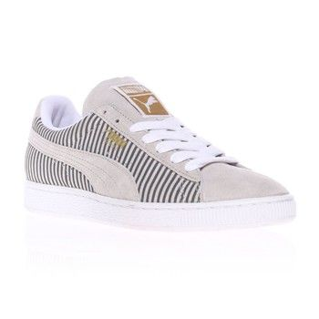 suede classic baskets puma en cuir gris clair easy shoes. Black Bedroom Furniture Sets. Home Design Ideas