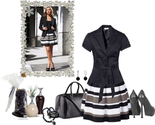 """BLACK AND WHITE I"" by sil-engler on Polyvore"