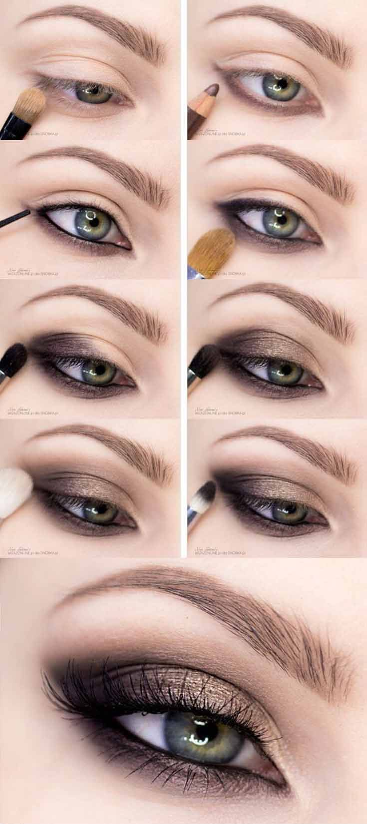 Get fall perfect smokey eyes