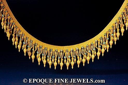 C Civilotti - An important revivalist gold and enamel 'Melos' necklace,