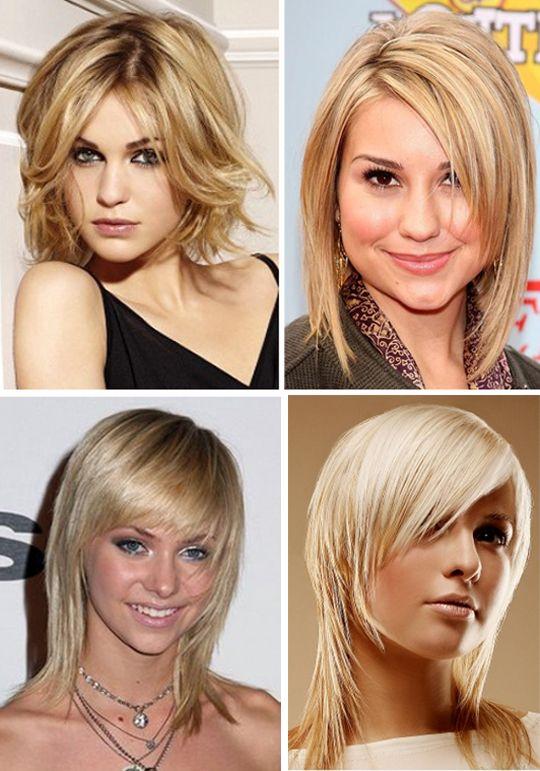 средние стрижки на тонкие волосы фото женские посмотреть ...