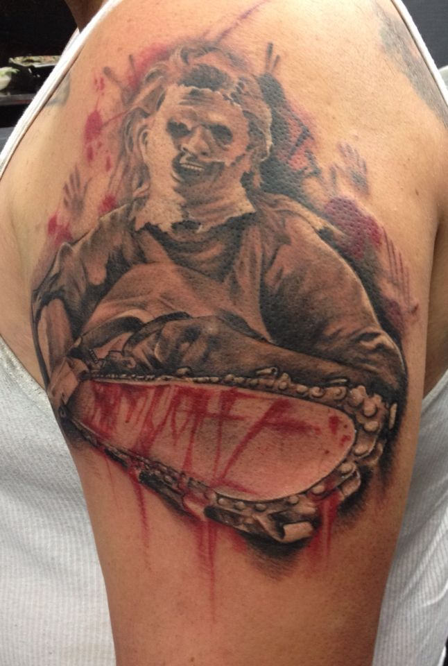 Leatherface Tattoo I Have Movie Tattoos Horror Tattoo Cover Up