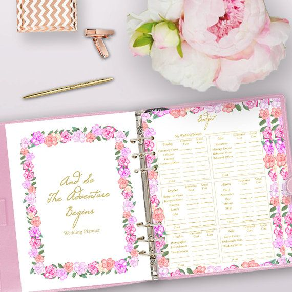 Wedding Planner Printable Binder Planning Printables Wedding