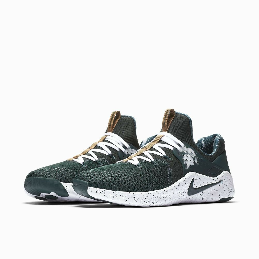 0956d212d53b7 Nike Free Trainer V8 Michigan State Mens Shoes Pro Green White  Nike   CrossTrainingShoes