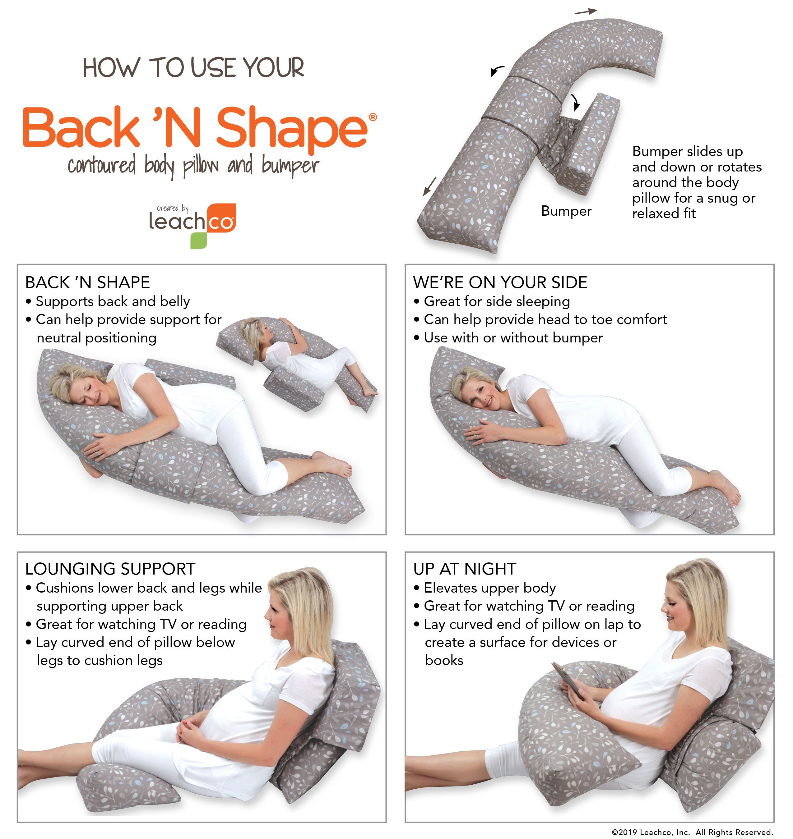 How To Use Your Leachco Body Pillow