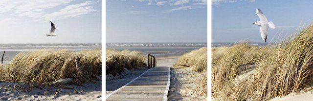 Glasbild »Landschaften Strand Meer Fotografie Blau«