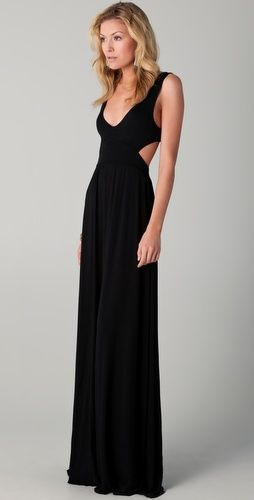 great black sexy maxi-dress