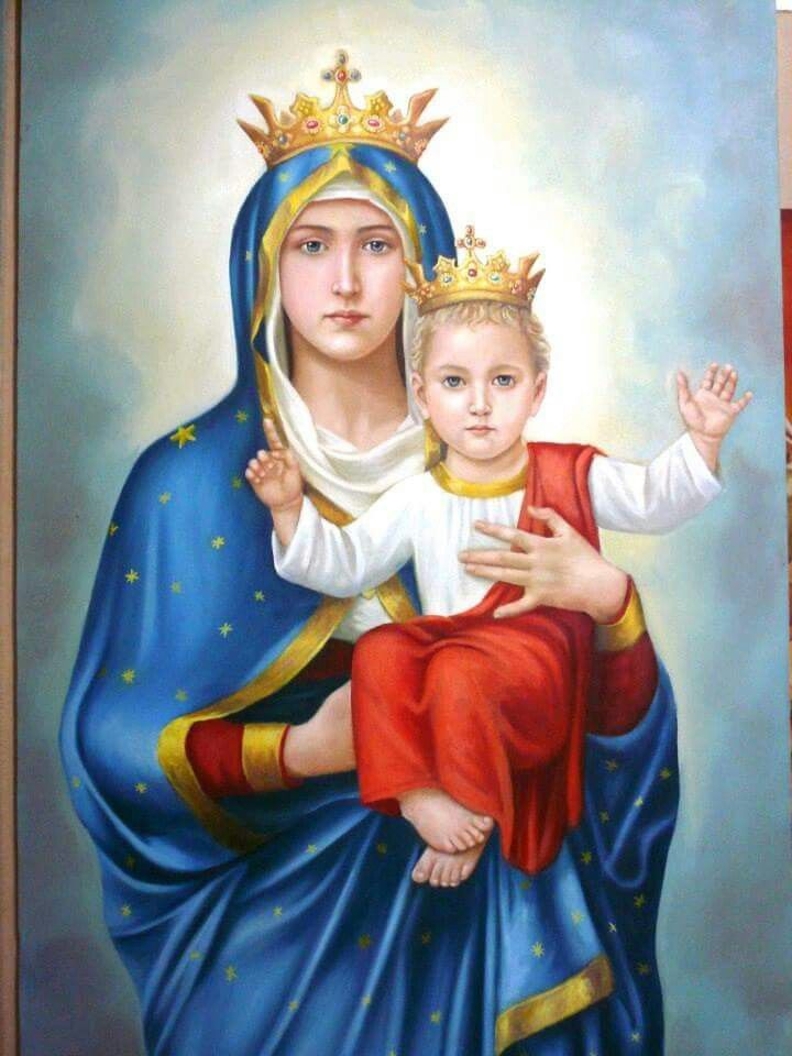 blessed virgin mary and baby jesus blessed virgin mary pinterest
