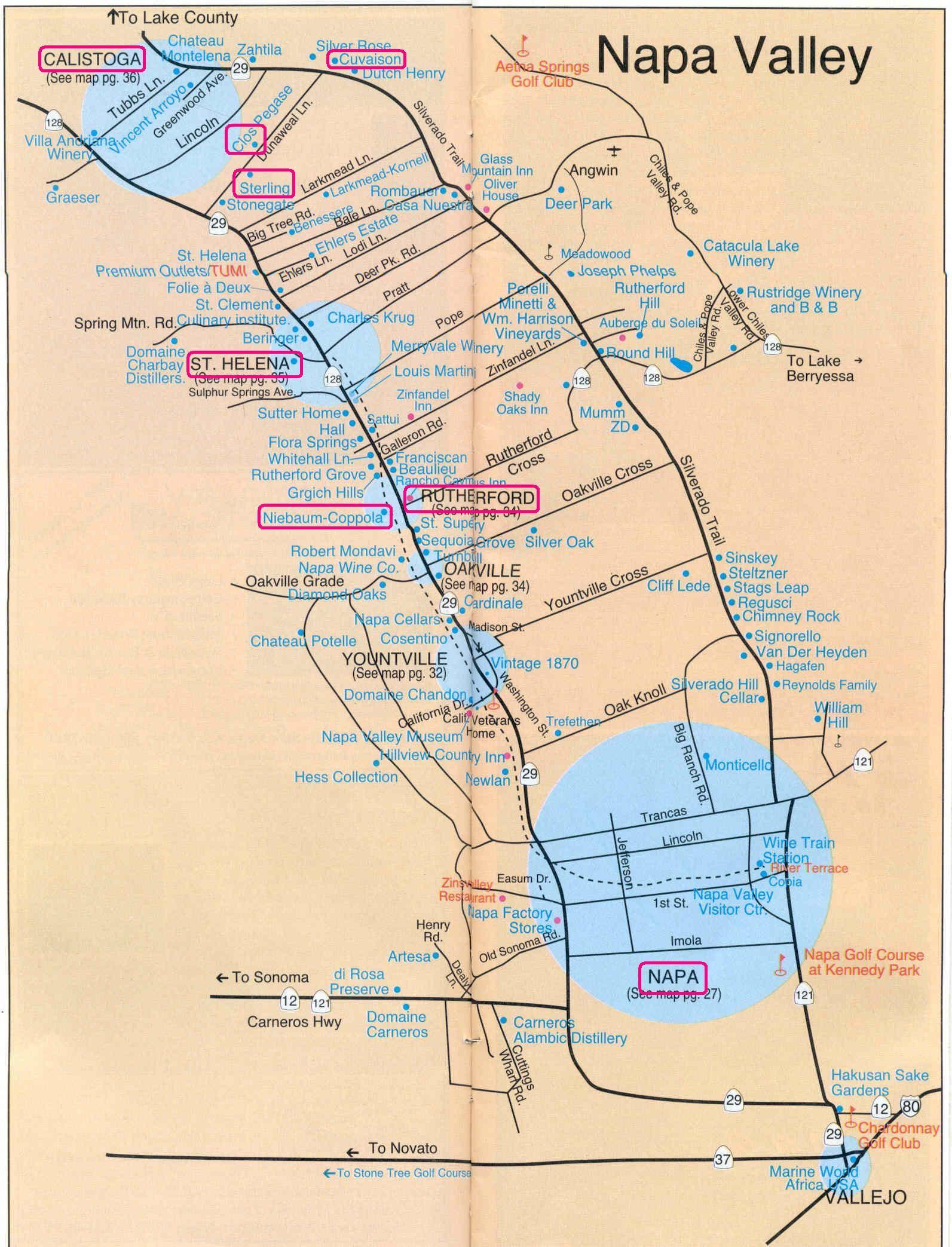 Printable Napa Wine Map  Sanda Kaufmans Image collection  Napa