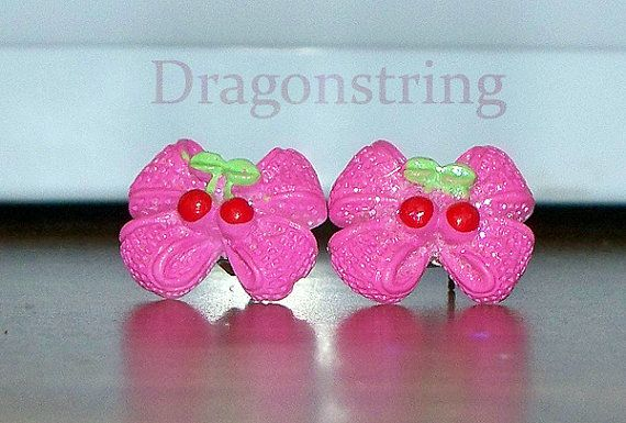 FREE SHIPPING Cute Cabochon Earrings  Choose Your by Dragonstring, $2.25