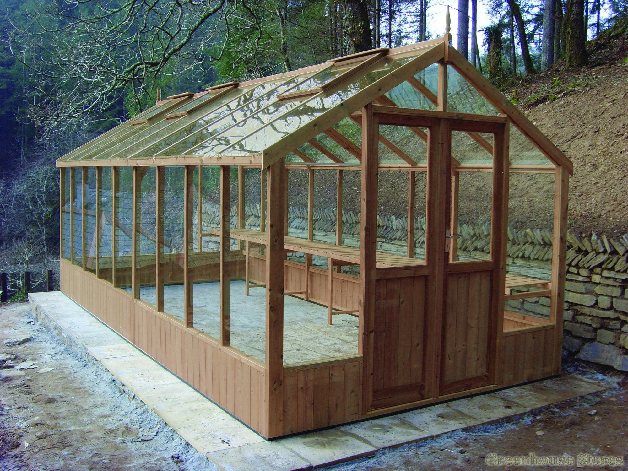 Swallow Raven 8x10 Wooden Greenhouse | Traditional ...