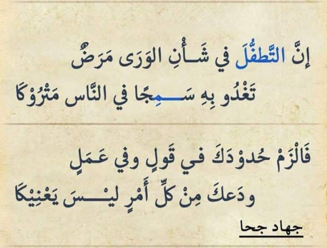 دعك من كل امر ليس يعنيك ابيات شعر Beautiful Quran Quotes Arabic Poetry Wise Quotes