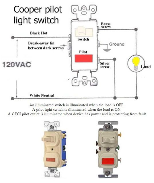 how to wire pilot light switch electrical info pics | non ... light switch with gfci schematic wiring diagram double pole switch with pilot light wiring diagram