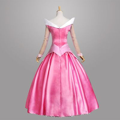 Pink Adult Sleeping Beauty Princess Aurora Costume Cosplay costume customized