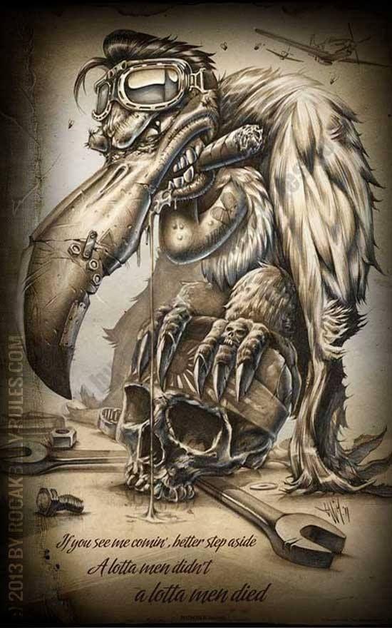 vulture skull tattoo wwwpixsharkcom images galleries