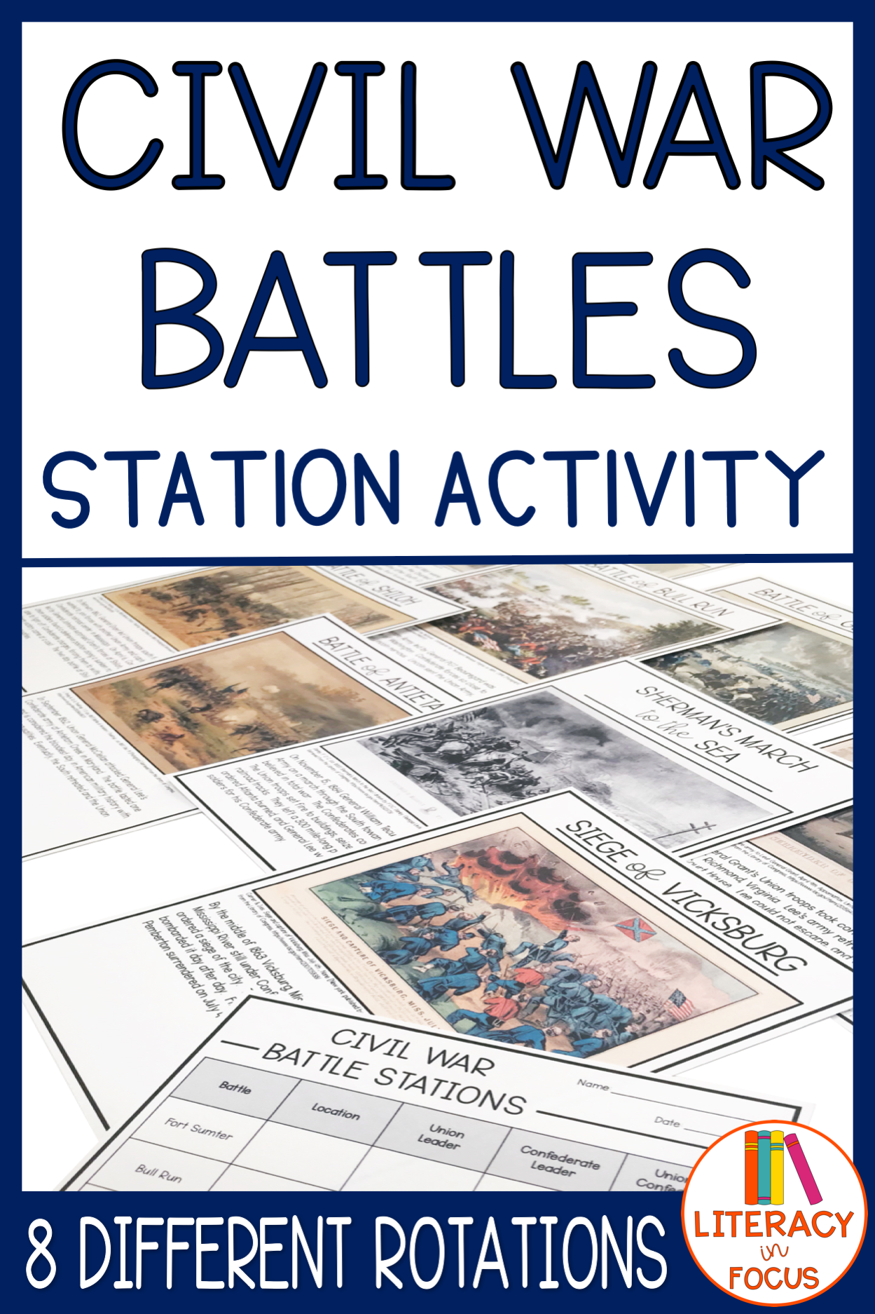 Civil War Battle Stations Activity
