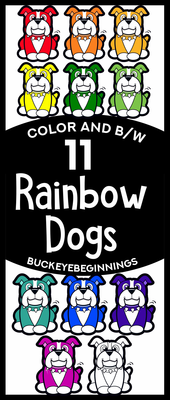Rainbow Dogs Clip Art | Clip art | Dog clip art, Rainbow ...