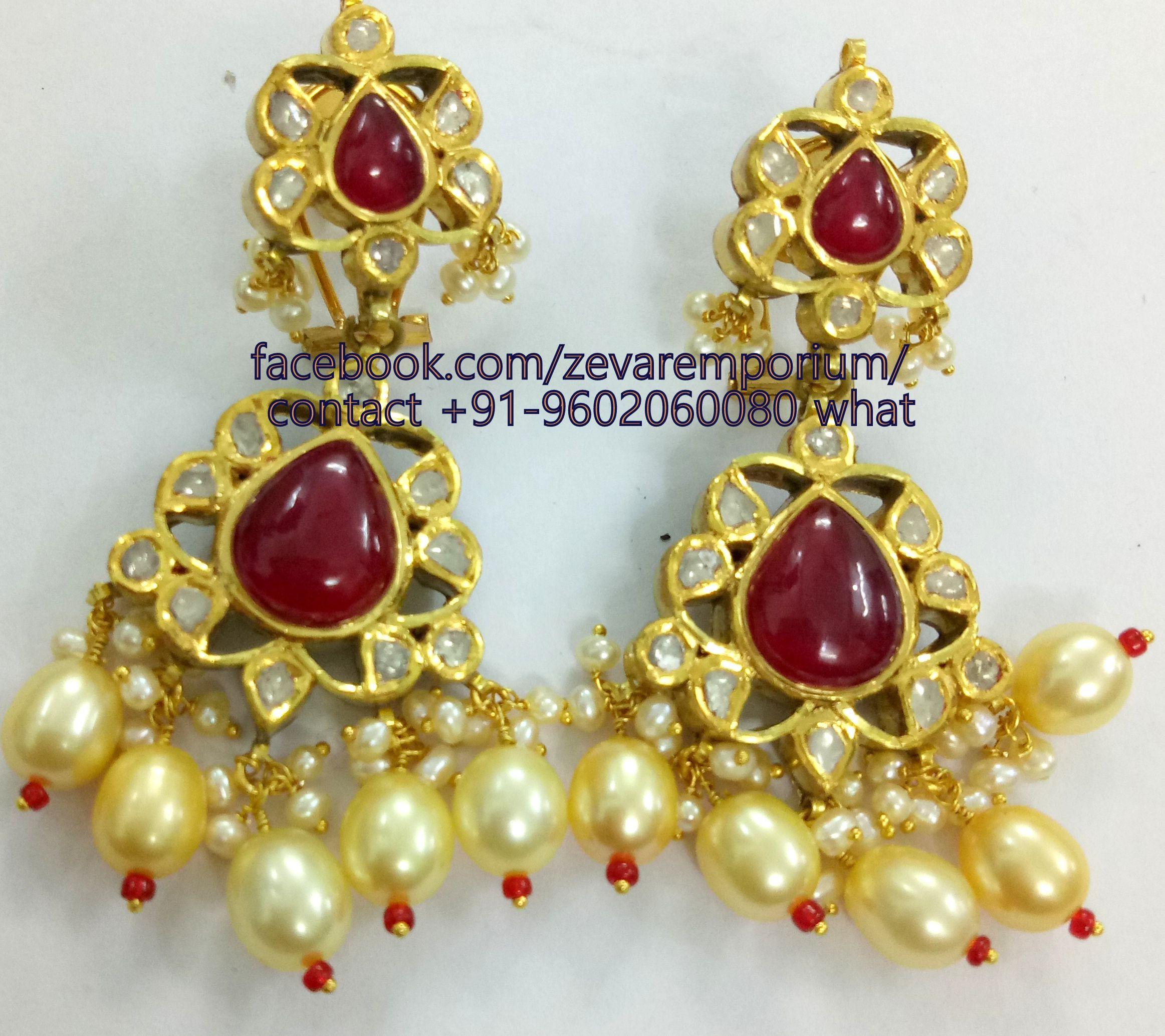 Real gold kundan meena diamond polki jewellery jadau polki necklace