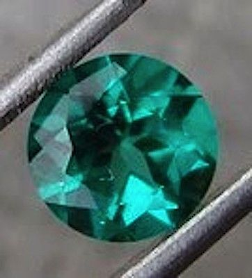 Lab-Created Emeralds 122956: Round Bright Green Lab Created Emerald (3Mm To 9Mm) BUY IT NOW ONLY: $71.0
