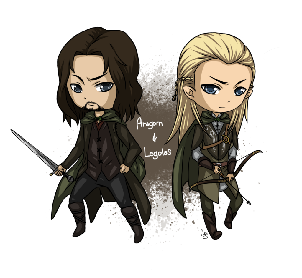 LOTR: Aragorn and Legolas Chibi by Angels-Leaf.deviantart.com on ...