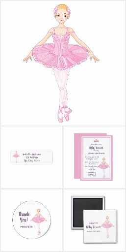 Baby Shower Invitation Letter Classy Ballerina Girly Pink Baby Shower Invitation Card Girly Ballerina .