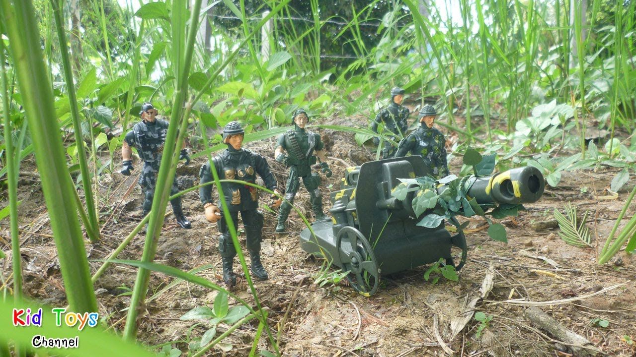 Artillery toy Green Plastic Army Men Military Cannon