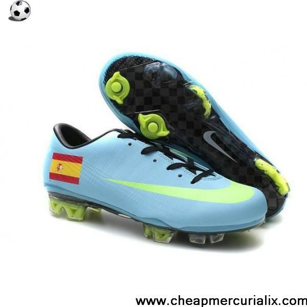 Nike Mercurial Vapor VIII FG Spain Team Lightblue and Volt Nike Firm Ground Football  Shoes, cheap Nike Mercurial Team Edition, If you want to look Nike ...