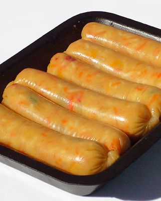 Vegetarian, Vegan Edible Sausage Casing - The world's first vegetarian,  vegan edible sausage casing which is also sui… | Recipes, Vegan recipes,  Vegetarian sausages