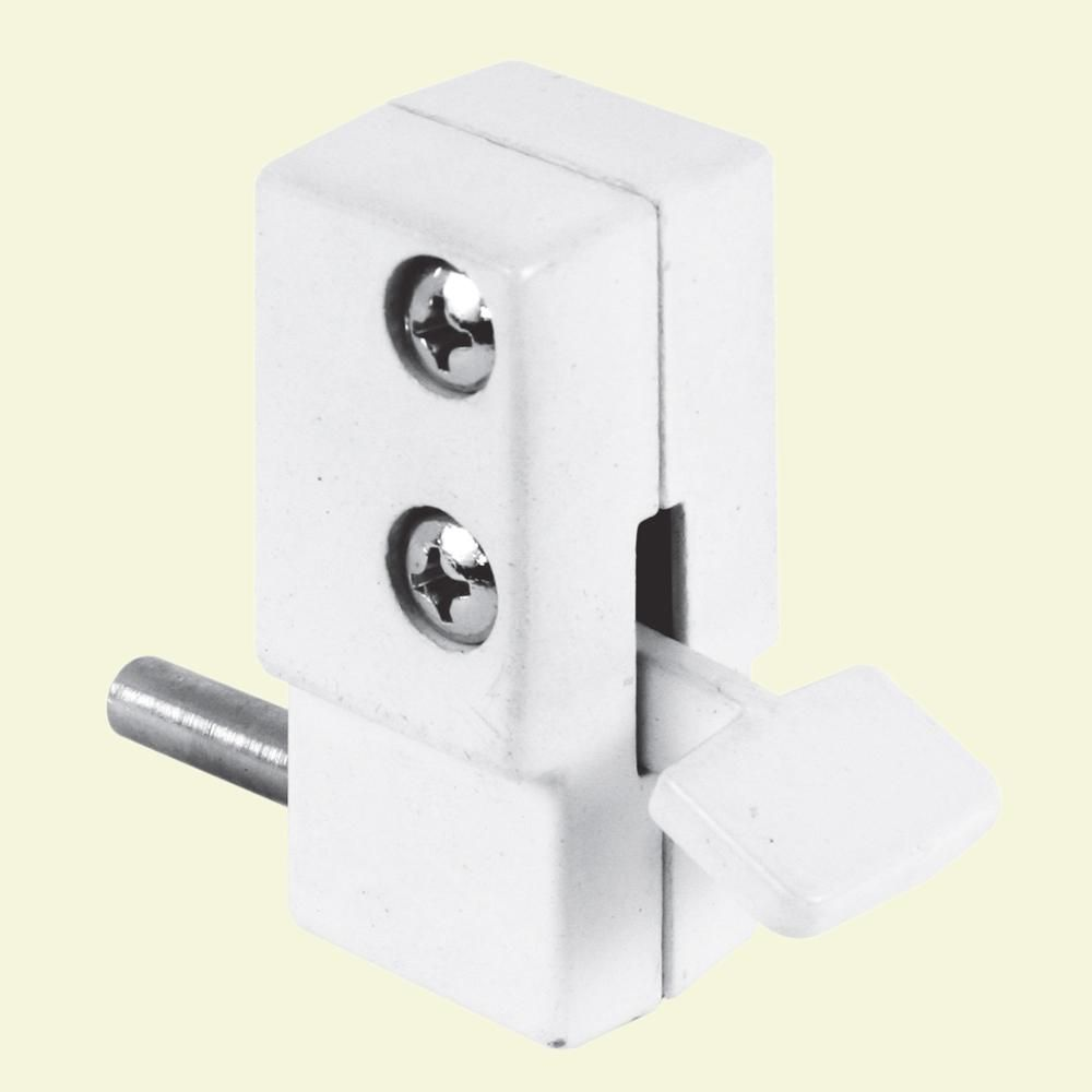Prime-Line White, Step-on Sliding Patio Door Lock-U 9879 ...